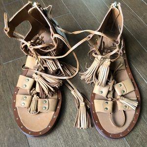 Zara basic gladiator leather sandals